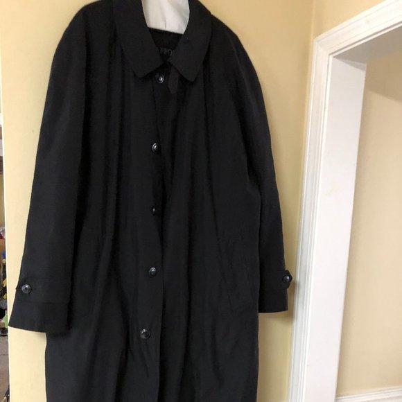 Stafford Men's Black Trench Coat.